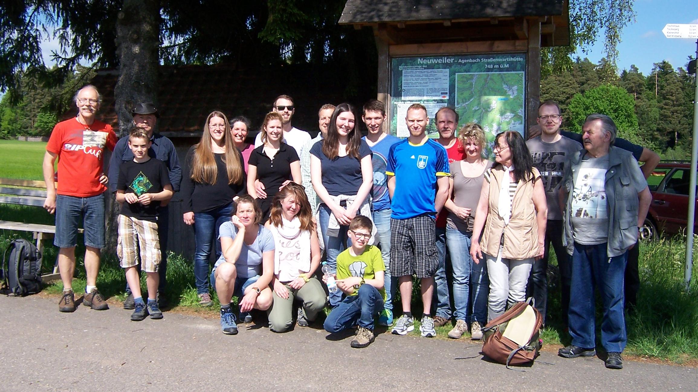 Sportgruppe Post Sport aus Calw bei der Wanderung