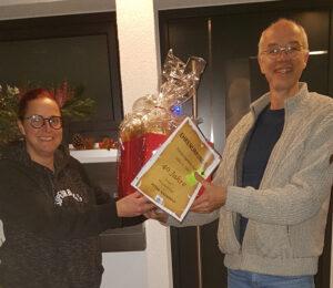 40 Jahre Mitgliedschaft im Post-Sportverein Calw für Peter Nanninga.